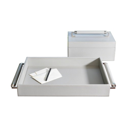 Double Handle Serving Tray-Grey