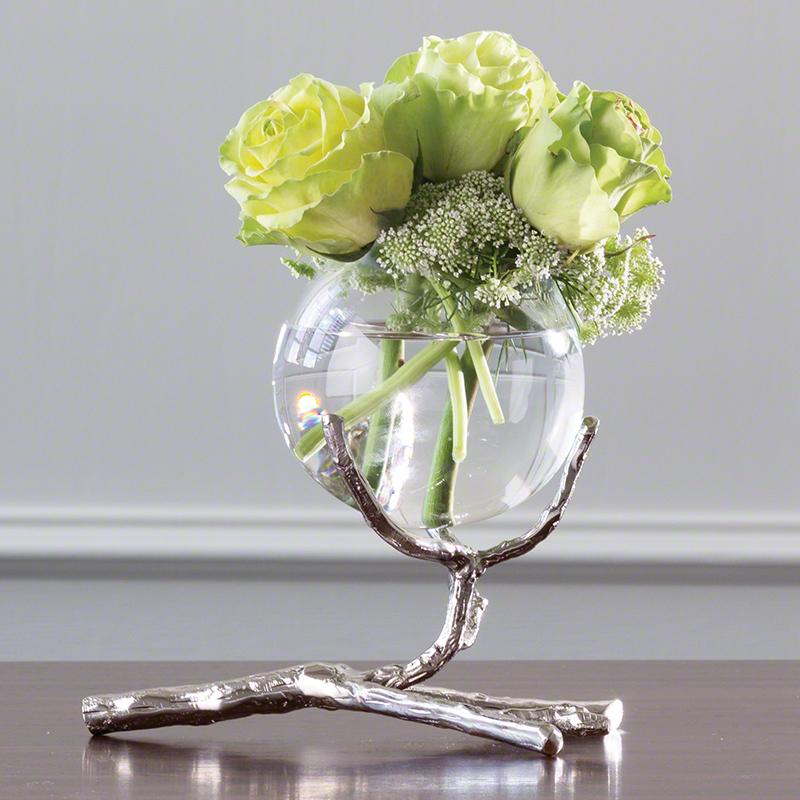 Global Views Products Twig Vase Holder Nickel