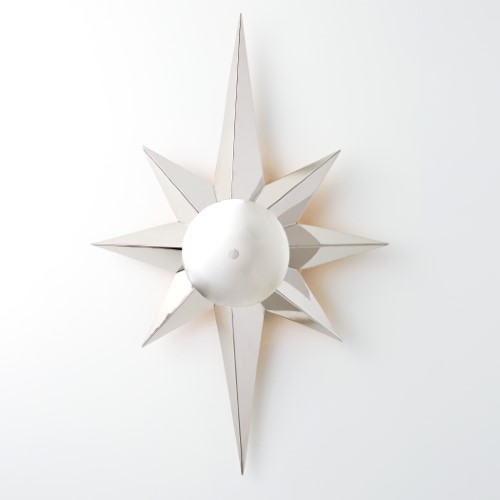Klismos Star Sconce-Nickel