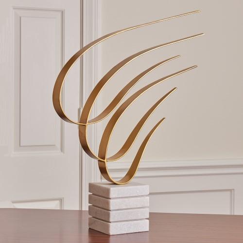 Swoosh Sculpture-Gold