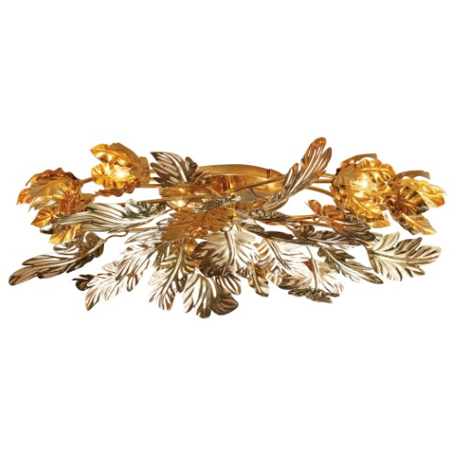 Dancing Leaves Ceiling Fixture-Brass