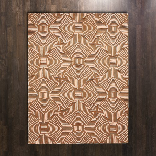 Arches Rug-Rust/Ivory