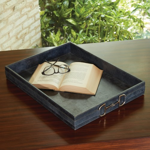 Stirrup Detail Tray-Blue Wash