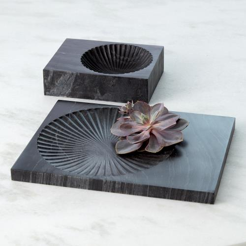 Carved Marble Plateau-Black
