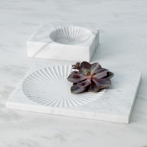 Carved Marble Plateau-White