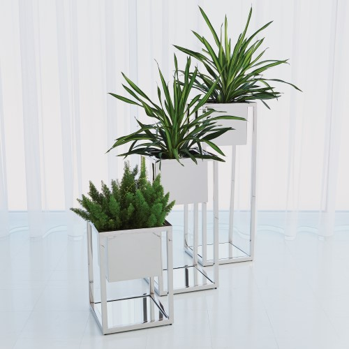 Escher Pedestal/Planter-Nickel