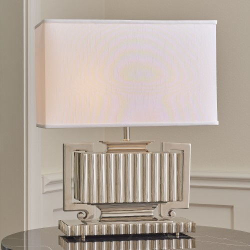 Fluted Urn Lamp-Nickel
