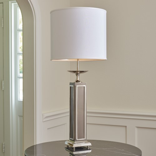 Greco Lamp-Nickel/Charcoal