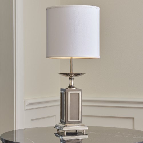 Grecco Lamp-Nickel/Charcoal