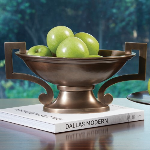 Square Handle Compote-Light Bronze