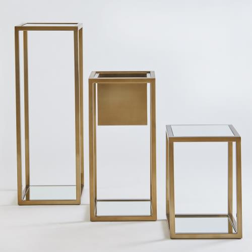 Escher Pedestal/Planter-Brass-Lg
