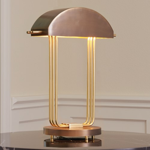 Arc Deco Table Lamp-Brass/Bronze