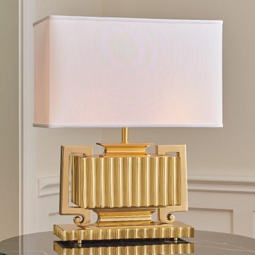 Fluted Urn Lamp-Brass