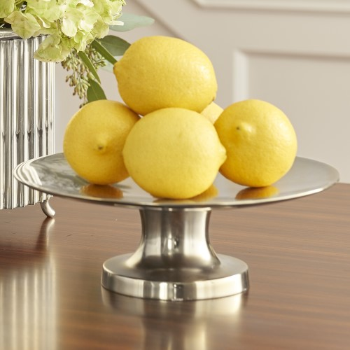 Round Compote-Nickel