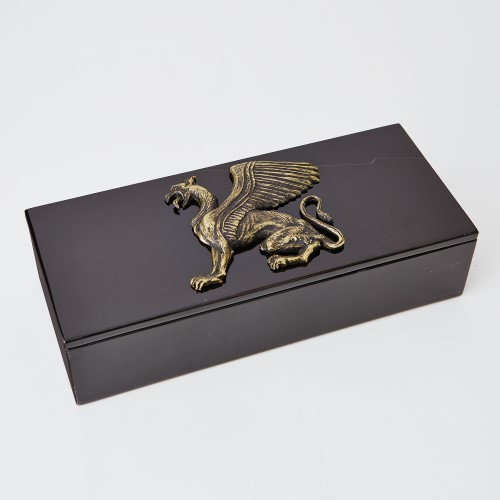 Griffon Dragon Box Top-Bronze/Black
