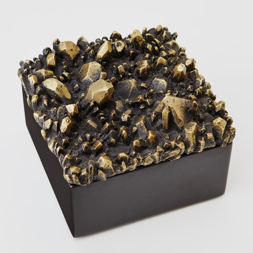 Facet Cluster Box Top-Bronze/Black
