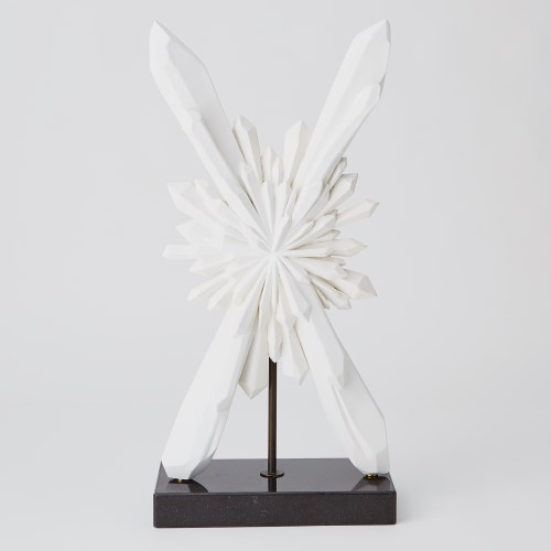 Faceted X Sculpture-White