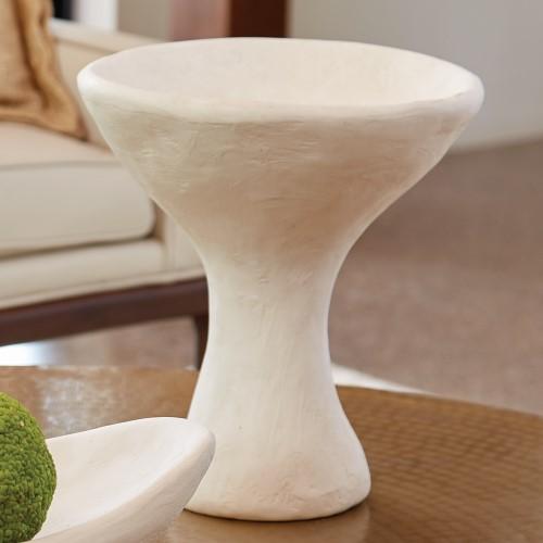 Modernist Urn-White Plaster