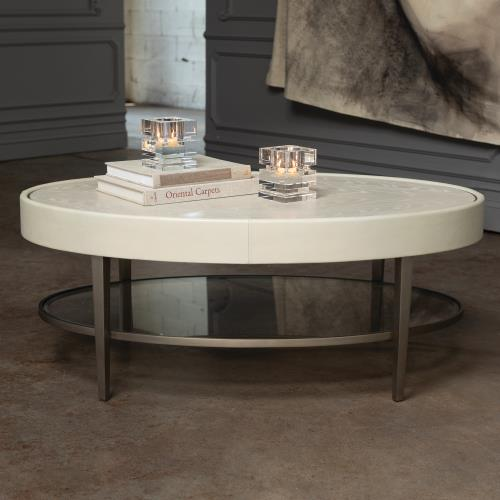 Ellipse Cocktail Table-Ivory