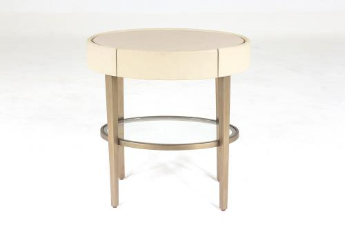Ellipse Side Table-Ivory