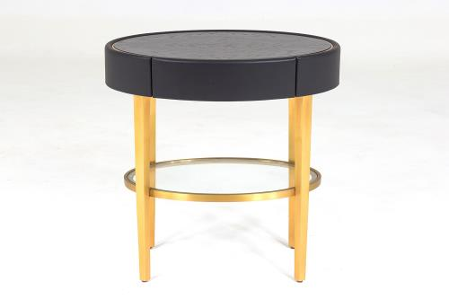 Ellipse Side Table-Ebony