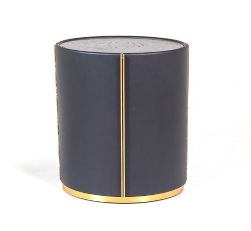 Ellipse Barrel Table-Ebony
