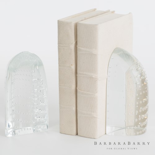 Iceberg Bookends-Dewdrop Clear