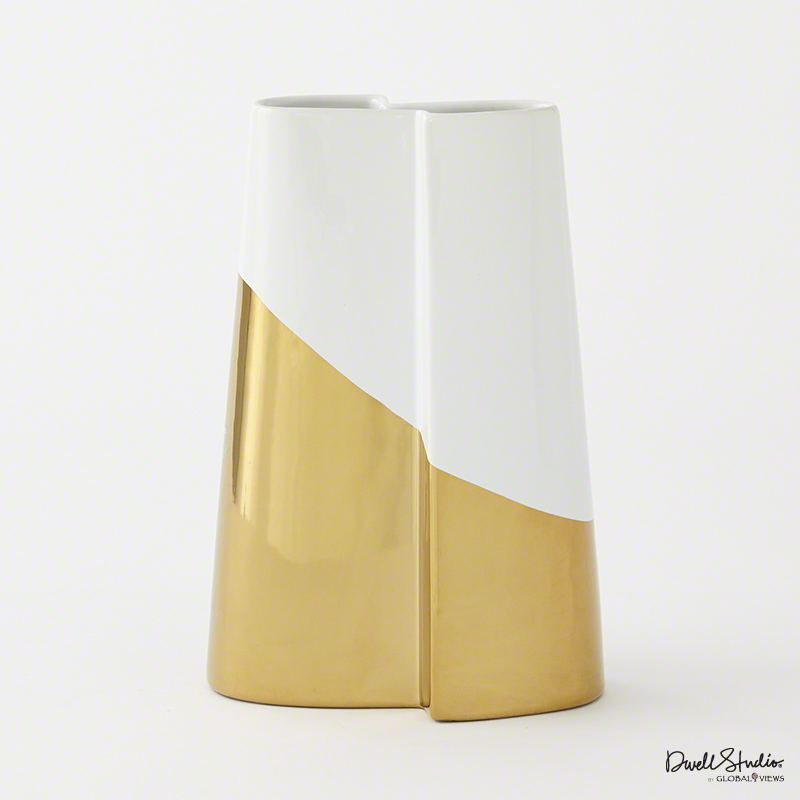 Global Views Products Metallic Dipped Tall Vase Gold