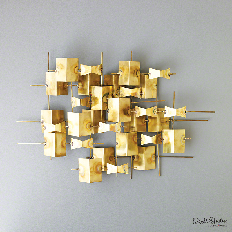 GLOBAL VIEWS | products | Folded Brass Wall Decor