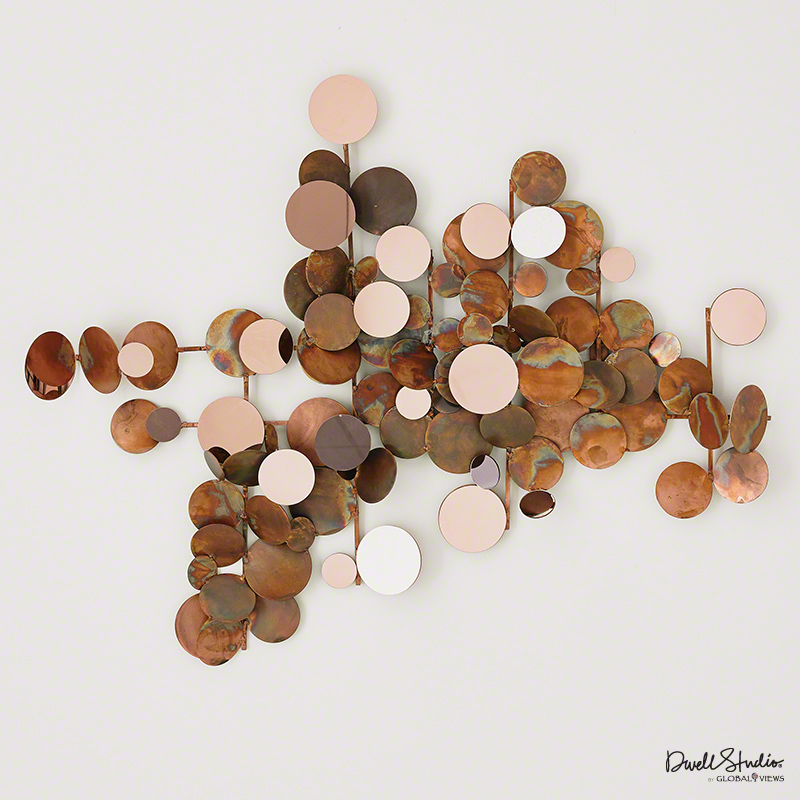 Superior ITEM#, DESCRIPTION, DIMENSIONS, TEARSHEET. D9.90056, Dot Wall Decor Copper