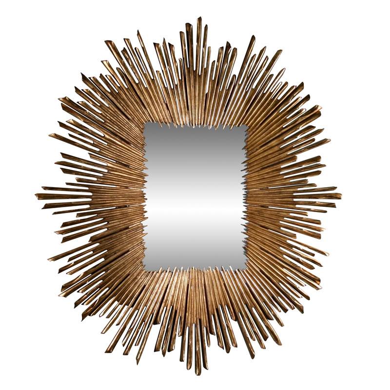 Soleil Mirror-Gold Leaf