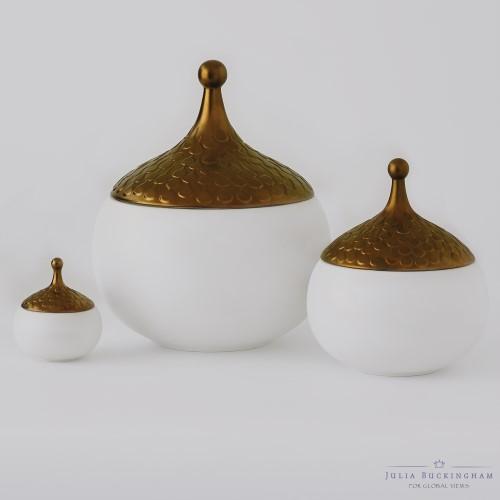 Teardrop Vase-Gilded