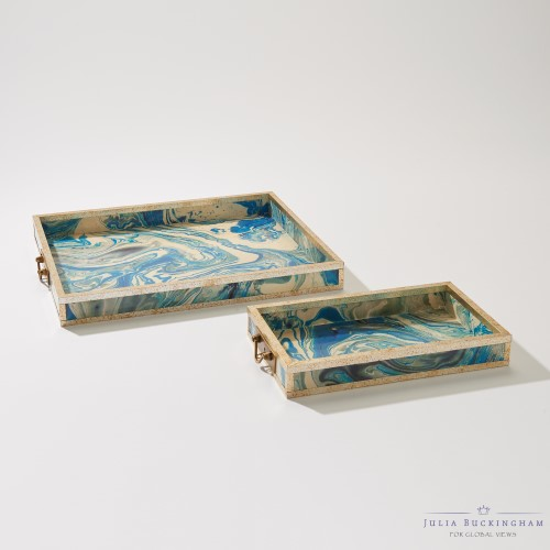 Treasure Tray-Peacock Blue