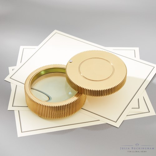 Pocket Book Magnifying Glass-Brass