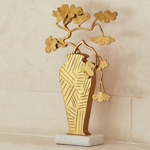 Ming Bonsai Sculpture-Antique Gold