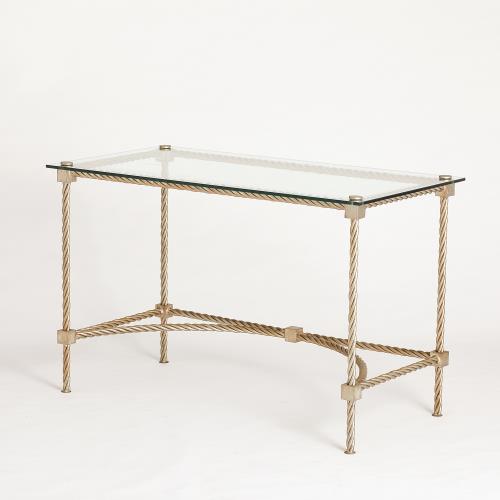 Rope Vanity/Writing Table-Silver Leaf
