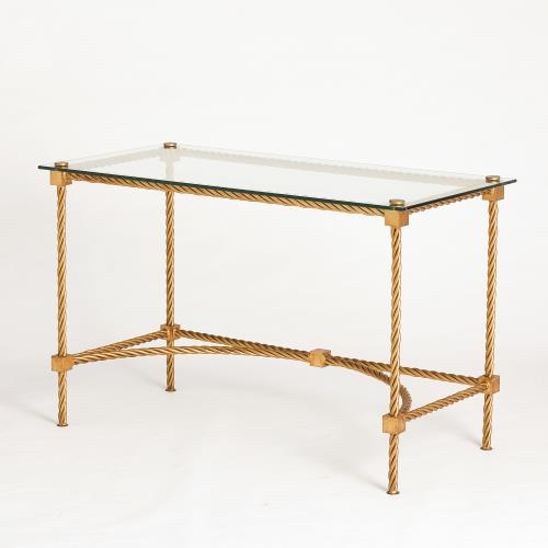 Rope Vanity/Writing Table-Gold Leaf