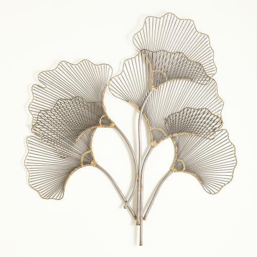 Ginkgo Leaf Wall Panel-Natural Iron