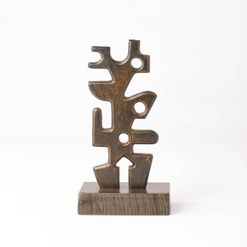 Iron Sculpture-Antique Brass