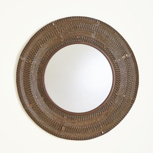 Round Ripple Mirror-Coffee Bronze