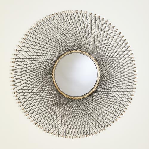 Spokes Mirrors w/Ball Points-Natural Iron