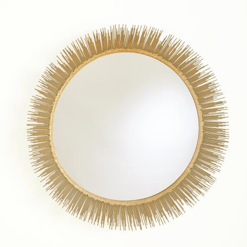 Stick Wall Mirror-Antique Gold