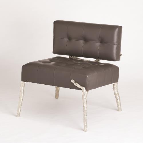 Bristol Branch Chair-Graphite Leather