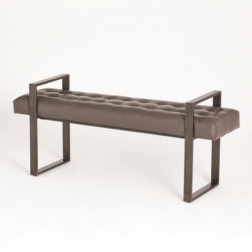 Dakota Bench-Graphite Leather
