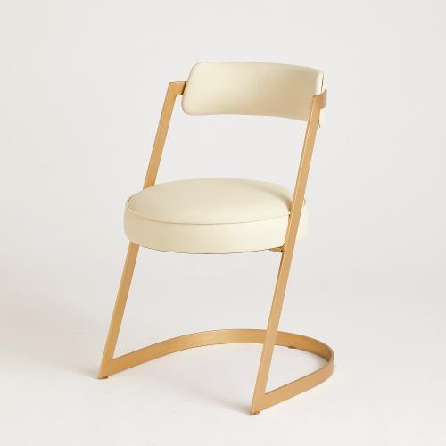 Geo Chair-Milk Leather