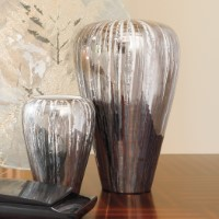 Metallic Platinum Vase