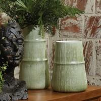 Linen Vase Grass Green